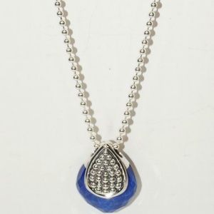 LAGOS Jewelry - LAGOS 925 ST SILVER MAYA LAPIS PENDANT NECKLACE